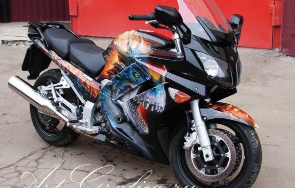 Аэрография на мотоцикл