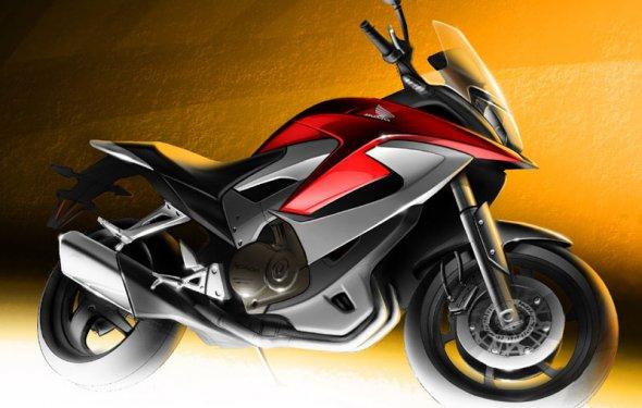 Honda – рисунок мотоцикла