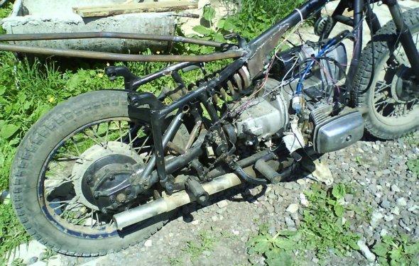 Начало переделки Мотоцикл