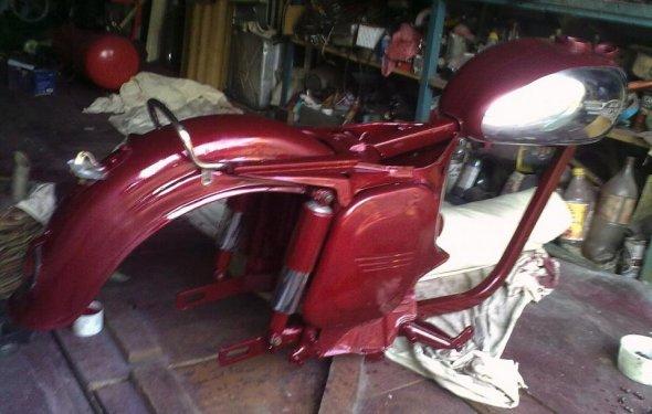 реставрация Мотоцикл Ява - 354